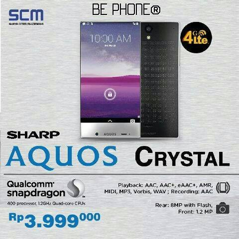 harga Sharp aquos crystal (sh825) - black - 5.0  - garansi resmi scm 1 thn Tokopedia.com