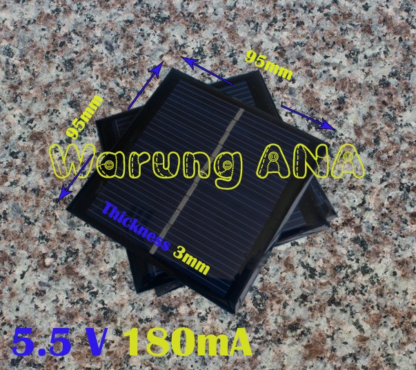 harga Solar panel 1w 5.5v 180ma mini monocrystalline polycrystalline Tokopedia.com