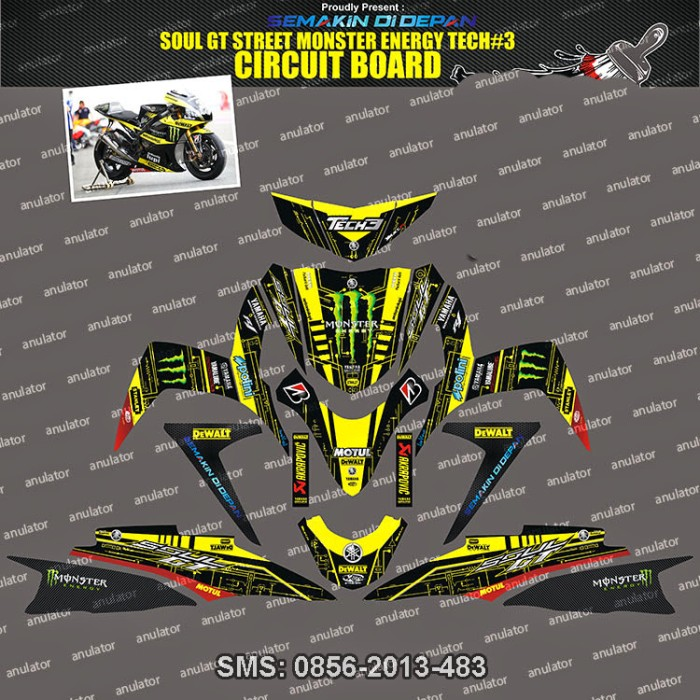 harga Sticker striping soul-gt-street-hitam--tech3-circuit-board  spec b Tokopedia.com