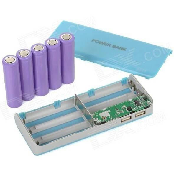 harga Console power bank + 5 slot charger battery 18650 Tokopedia.com