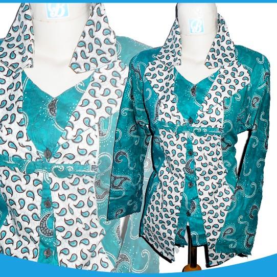 Jual 1206 15 Batik Full Bolero Hijau Tosca Bajutoko Com Seragam Batik Kab Pekalongan Plus Batik Tokopedia