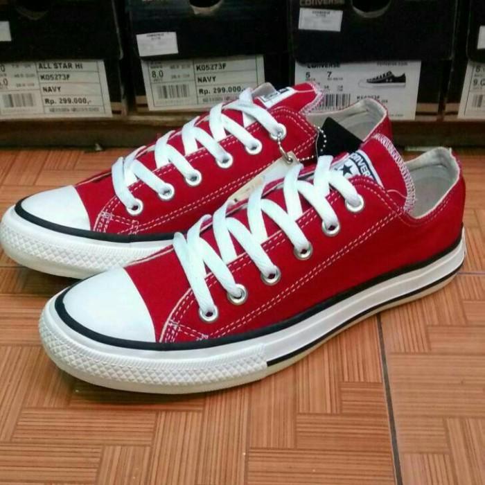 Jual sepatu converse allstar merah maron+box murah! - sepatu murah ... b3a55e8fa4