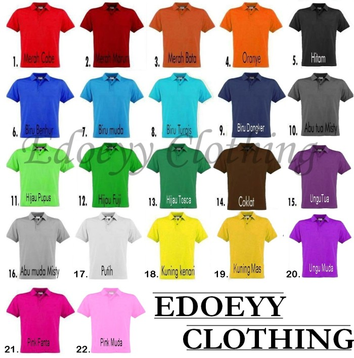 Jual Kaos Polo Polos   Kaos Kerah Polos - Edoeyy Clothing  e62c002b07
