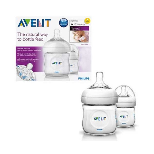 harga Avent natural bottle 125ml twin Tokopedia.com
