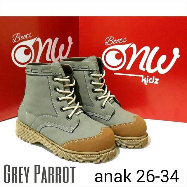 harga Sepatu anak onw kids boot abu grey parrot boots Tokopedia.com