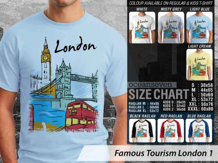 harga Kaos distro oceanseven - london famous tourism Tokopedia.com