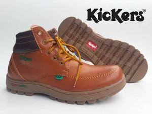 New Sepatu Kickers Boot Tan Bantalan COklat