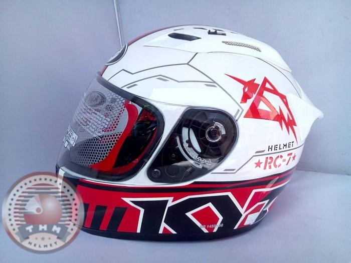 Helm KYT RC Seven Seri 11 ( White/Red, Size M )
