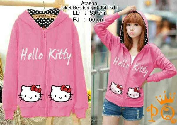 Jual JAKET cewek Hello kitty PINK - eka fashion shop  2981e42cf2
