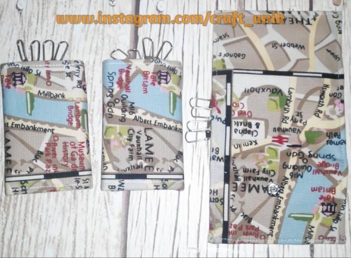 harga Dompet stnk + kunci mobil/motor unik peta london Tokopedia.com