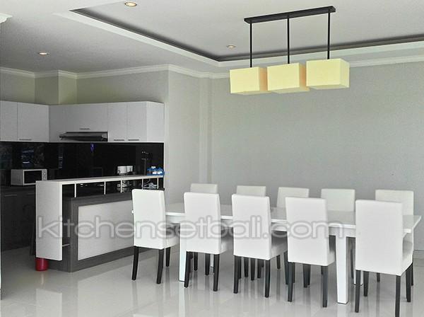 Jual Kitchen Set Minimalis Black And White Bali Rba Interior