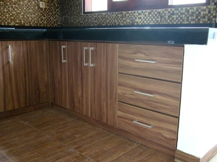 Jual Kitchen Set Minimalis Brown And Black Bali Rba Interior