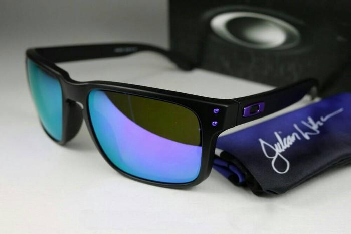 582f716eb7b Jual Oakley Holbrook Julian Wilson Matte Black Violet Iridium ...
