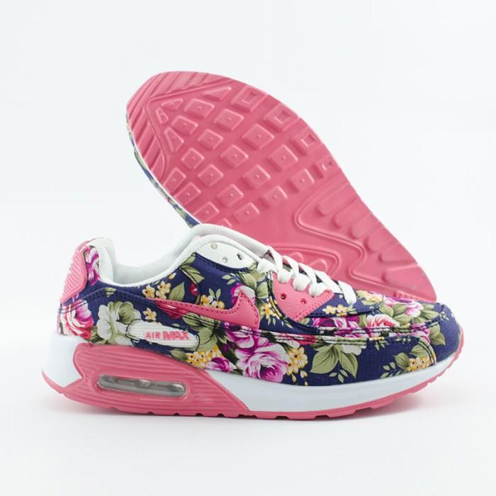 Jual Nike Air Max 90 Flower  15029W-NVPK  - Pusat Sepatu Cewe ... 208a7059ab