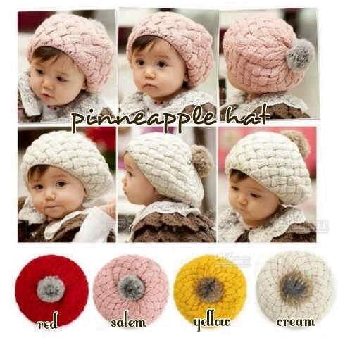 harga Topi nanas pineapple hat rajut anak baby bayi kids toddler balita Tokopedia.com