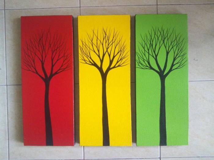 harga Lukisan pohon dekoratif 3 warna Tokopedia.com
