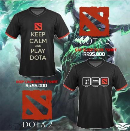 Kaos Gaming - T-shirt Dota 2 Keep Calm
