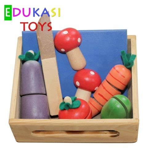 Foto Produk Potong Sayur mainan edukatif edukasi toys anak balok kayu SNI murah dari Edukasi Toys