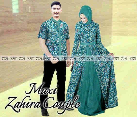 Jual Couple Zahira Batik Batik Couple Busana Muslim Baju Pasangan