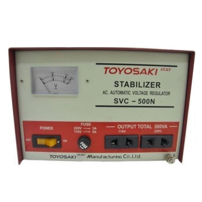 harga Toyosaki svc-500n stabilizer 500va - auto return Tokopedia.com