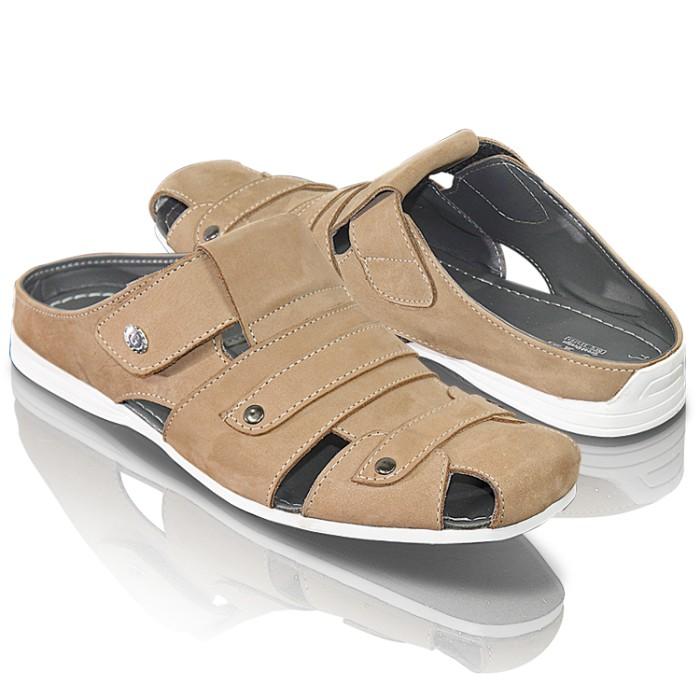 Jual sepatu sandal pria kulit murah golfer terbaru (Gol ...