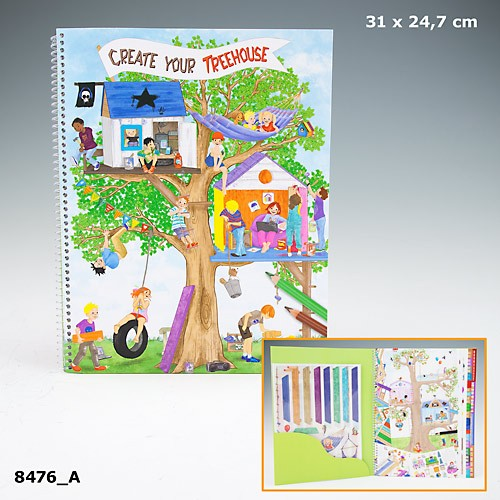 Jual Tm 8476 Create Your Tree House Colouring Book Buku Mewarnai