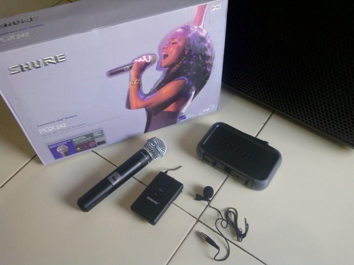 harga Pgx 242 shure wireless 2 mic (genggam+clipon(jepit)) + hardcase Tokopedia.com