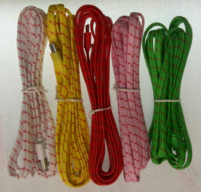 harga Kabel micro usb model tali sepatu 2 m Tokopedia.com