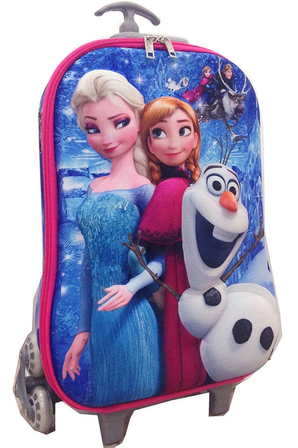 Tas Koper Troley Frozen Blue Import High Quality bahan Hard Case