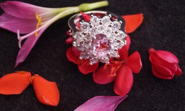 harga Cincin wanita batu permata ping / pink safir saphire cocok untuk kado Tokopedia.com