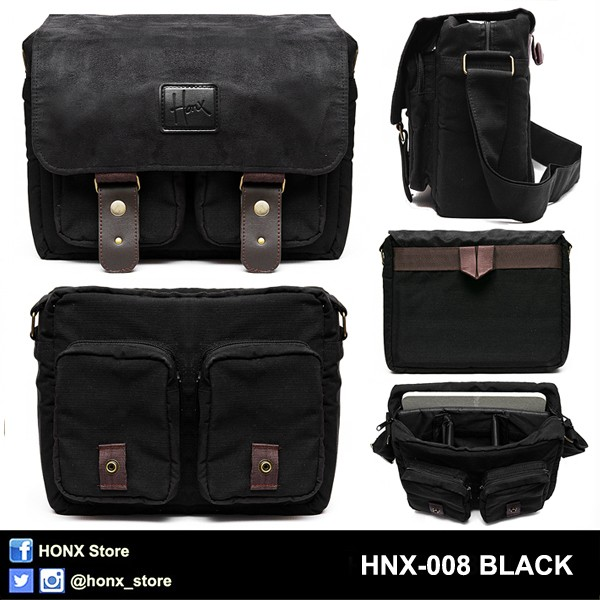 harga Tas Kamera / Messenger Camera Bag / Sling Bag Honx 008 Black Tokopedia.com