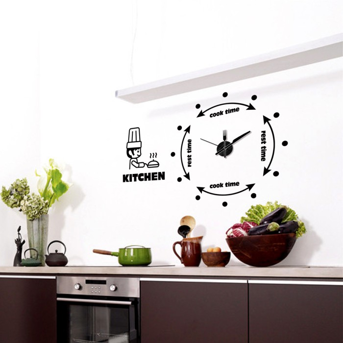 Wall Sticker Dapur Plus Jam