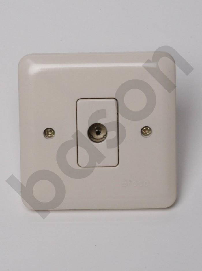 harga Broco 5181 new gee antenna socket coax outlet - socket tv | cream Tokopedia.com