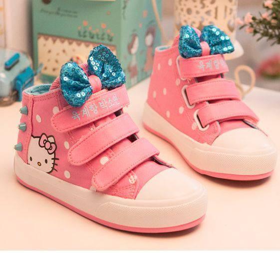 harga Sepatu sneaker casual bow strap hello kitty polka pink Tokopedia.com