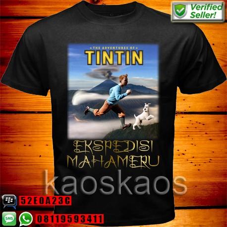 harga Kaos Tintin Ekspedisi Puncak Mahameru Tokopedia.com