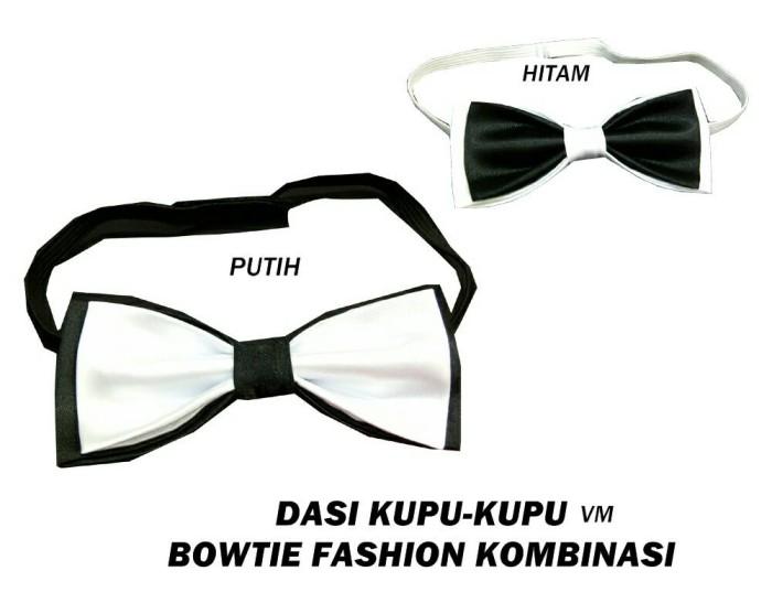 Jual Dasi Kupu Kupu Hitam Putih Bowtie Mode Kombinasi Black N White Jakarta Utara Vm Vanmarvell Tokopedia
