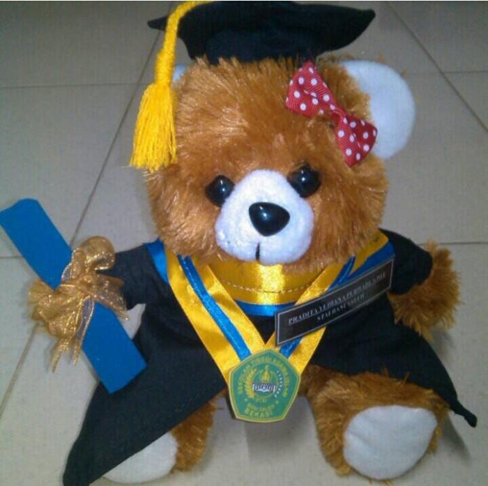 Jual Boneka Wisuda Teddy Bear Kuning - 32 cm - Devalope Star  ce344e3741