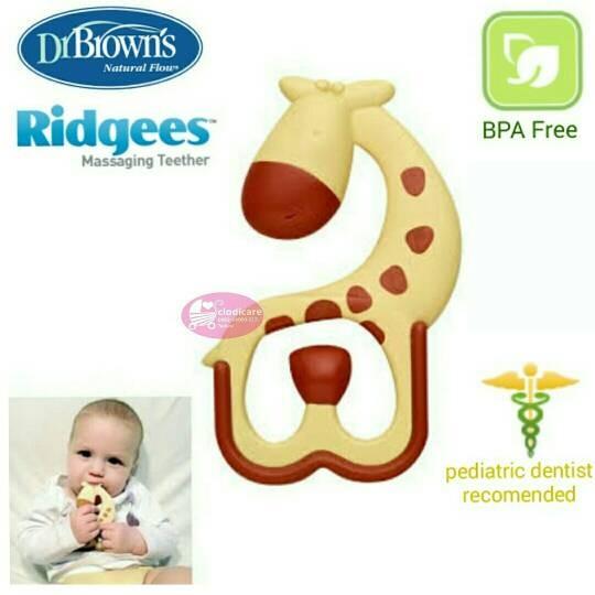 dr Browns Ridgess Teether Giraffe ( Gigitan Bayi/Empeng .