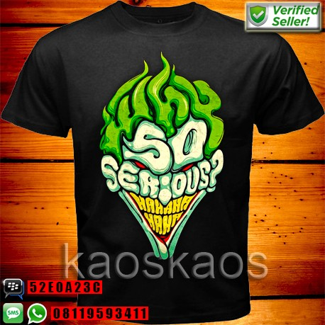 harga Kaos the dark knight joker why so serious Tokopedia.com