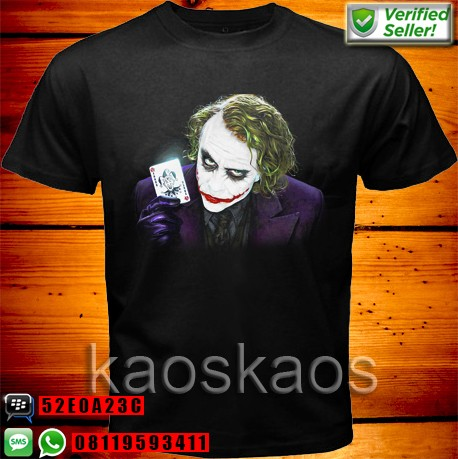 harga Kaos the dark knight joker card purple Tokopedia.com