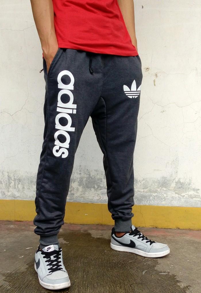 Celana Jogger Adidas Abu Tua