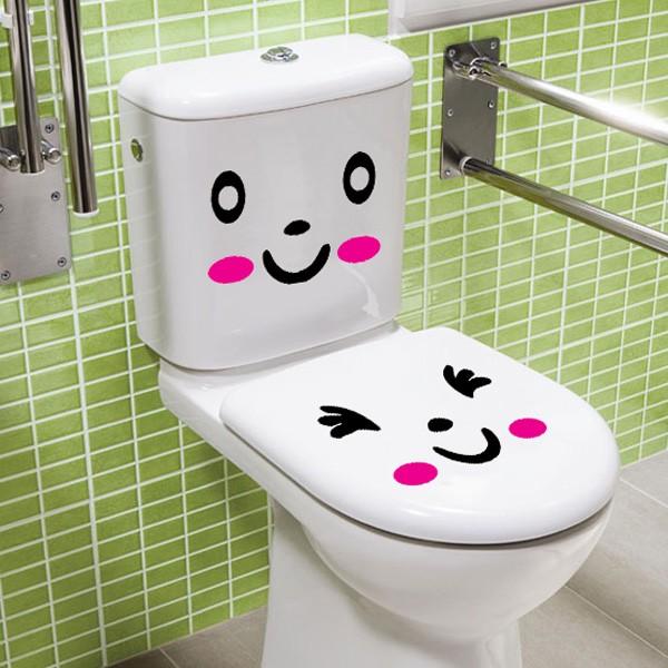 jual dinding stiker / wall sticker kamar mandi / gambar lucu - l4-8