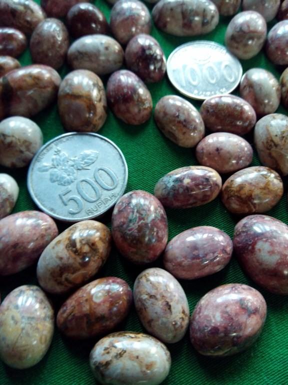 Jual Mata Cincin Batu Pancawarna Batik Jember Aneka Motif Paket 5