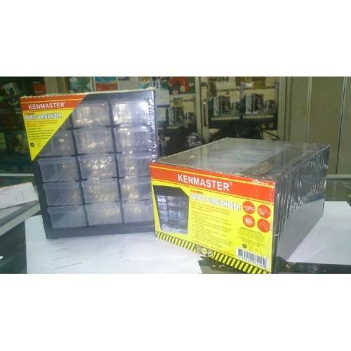 harga 15 slot parts organizer  - rack mount cabinet - componet storage Tokopedia.com