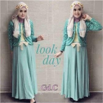 Jual Gamis Wanita   Baju Muslim  Dress Gaun Pesta Nurul Set G-116 ... abb655a26f