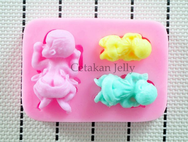 Baby ice pudding jelly choco mold cetakan es puding jely coklat bayi