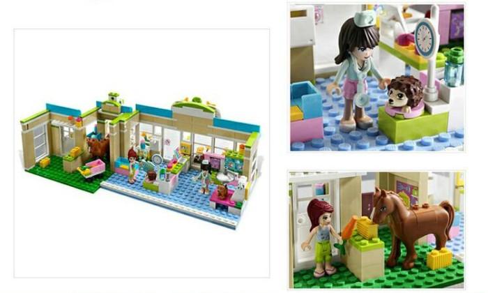 Jual Lego Bela Girls Friends Pet Hospital Building Sayanganak77
