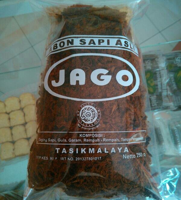 harga Abon sapi asli cap jago khas tasikmalaya 250gr Tokopedia.com