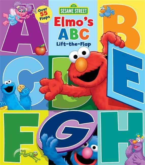 harga Sesame street elmo's abc lift the flap board book with over 55 flaps! Tokopedia.com