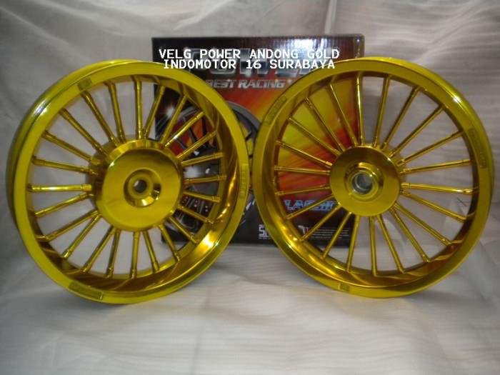 Jual Velg Power Andong Gold Vario 110 Beat Mio Xeon